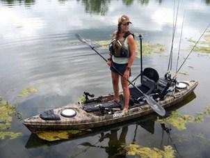 kayak selection suitable for fishing