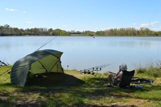 camping and fishing