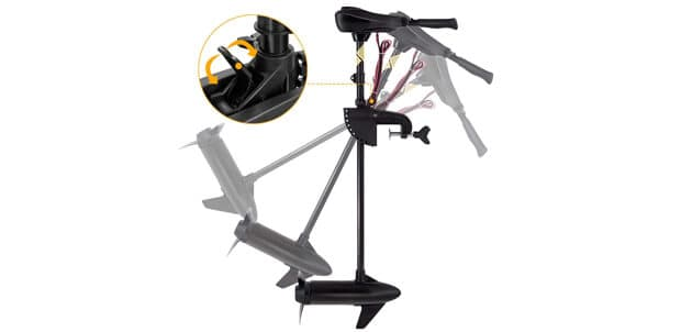 Goplus Electric Trolling Motor 46-55-86 LBS Thrust Transom Mounted 8 Speed (Cons)