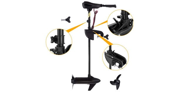 Goplus Electric Trolling Motor 46-55-86 LBS Thrust Transom Mounted 8 Speed (added features)