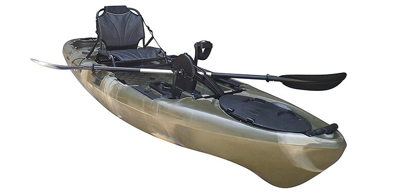 Brooklyn Kayak Company BKC UH-PK11 Pedal Drive Solo Rover 10-Foot 6-Inch Solo Kayak Propeller-Driven Sit On Top Single Fishing Kayak with Pedal Drive