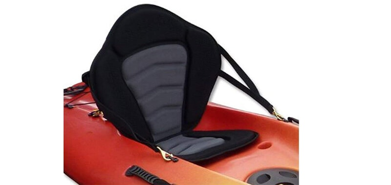 Pactrade Marine Adjustable Padded Deluxe Kayak Seat Detachable Back Backpack-Bag Canoe Backrest