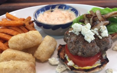Bison Blue Cheese Burgers