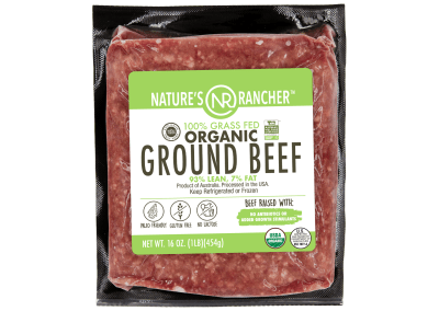 Nature's Rancher 100% Grass Fed Organic Ground Beef 93/7