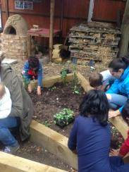 Children planting London