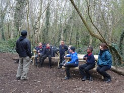 Forest school activity at eardley road sidings nature reserve Lambeth-3
