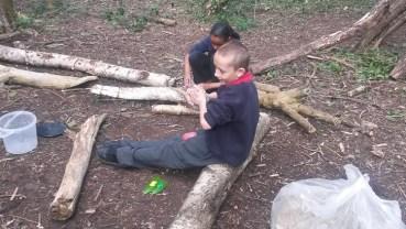 Forest School easter egg hunt Granton Primary School Lambeth-2