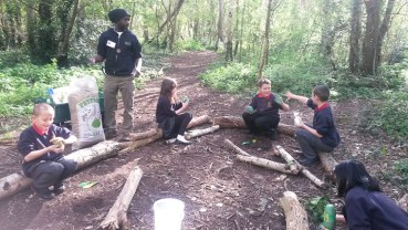 Forest School easter egg hunt Granton Primary School Lambeth-7