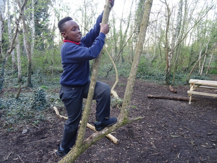 Granton Primary 2nd Year Forest school activity Lambeth-12
