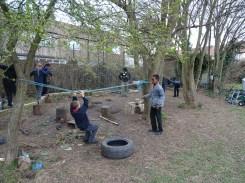 Second forest school after school activity for Granton primary school children -2