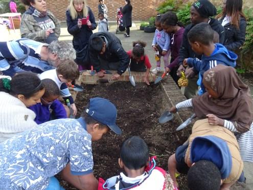 Free Fern Lodge Lambeth Forest School after school children gardening activity-7