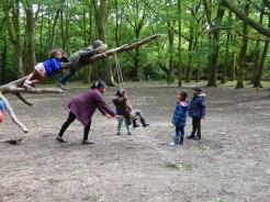 Free after school children Forest School club Lambeth London-4
