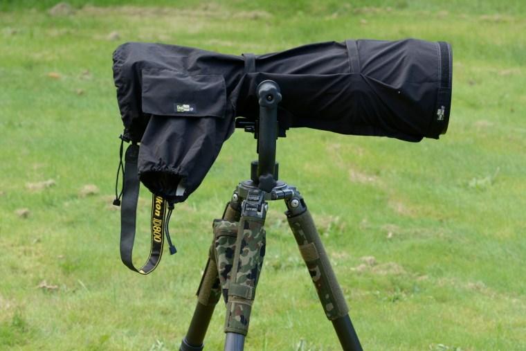 Lens Coat med udslået ærme til betjening af kamera