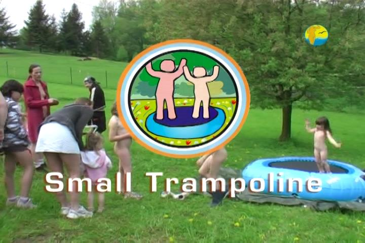 Video from the life of a nudist community - Small Trampoline [Family Nudism]