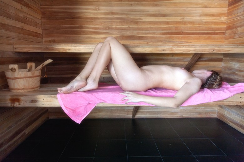 sauna in Barefeet Naturist Resort