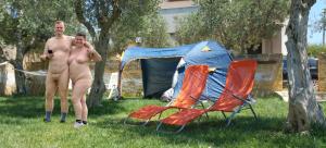 naturist campsite italy, nude couple in sicily