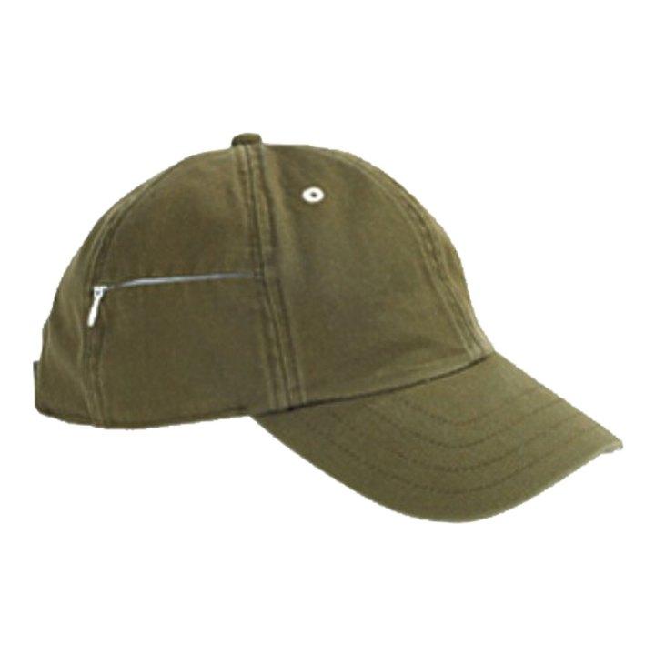 Baseball Cap with Zippered Pocket