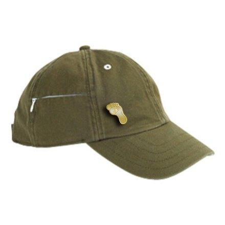Baseball Cap with Gold Foot Pin