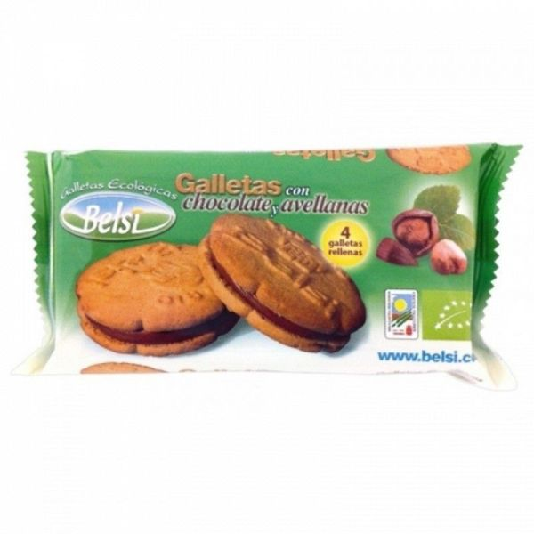 1066 Galleta rellena chocolate avellana BELSI 70 gr