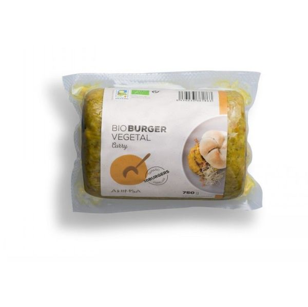 1203 Hamburguesa curry AHIMSA 750 gr BIO