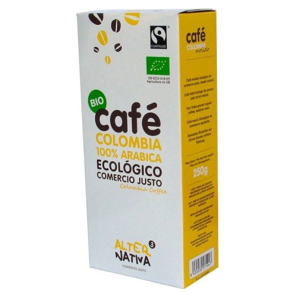 1409 Cafe colombia molido ALTERNATIVA 3 250 gr BIO