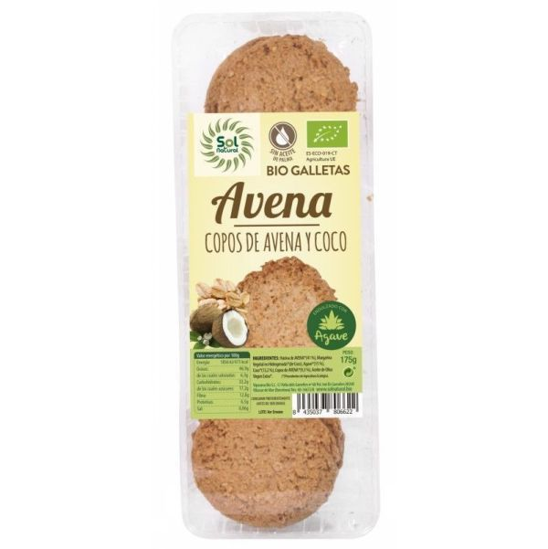 1785 Galleta avena coco agave SOL NATURAL 175 gr BIO