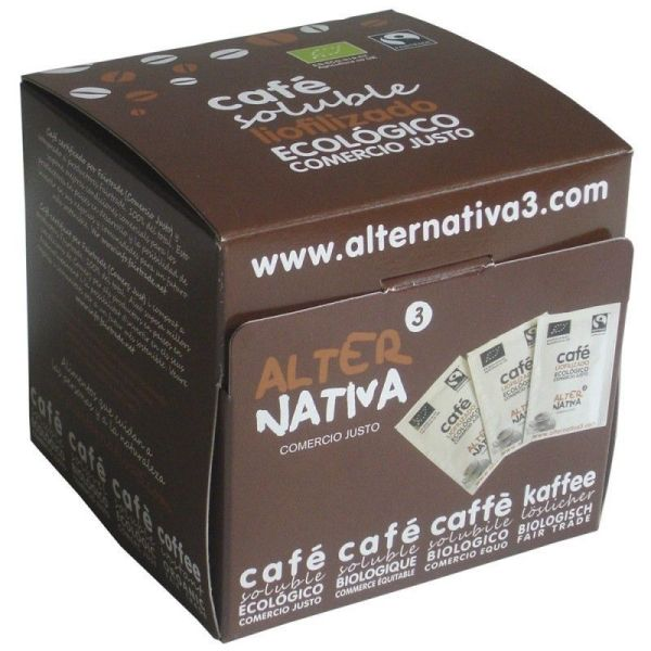 3154 Cafe liofilizado soluble ALTERNATIVA 3 25x2 gr BIO