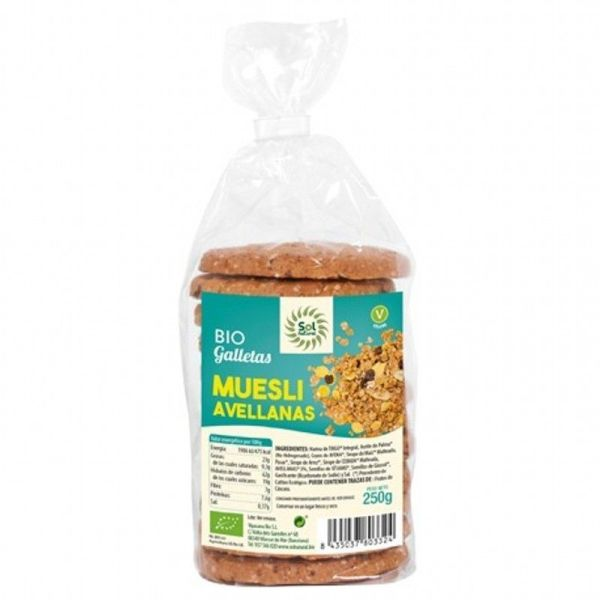 586 Galleta muesli avellanas SOL NATURAL 250 gr