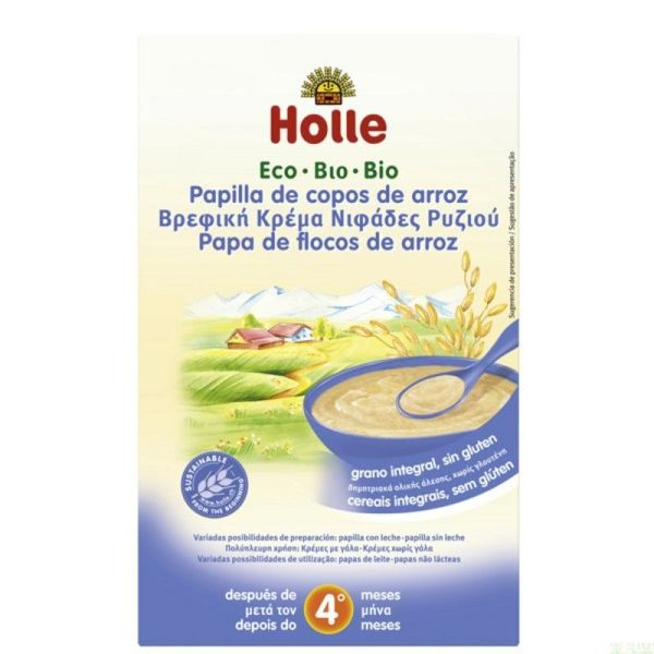 651 Papilla copos arroz HOLLE 250 gr ECO