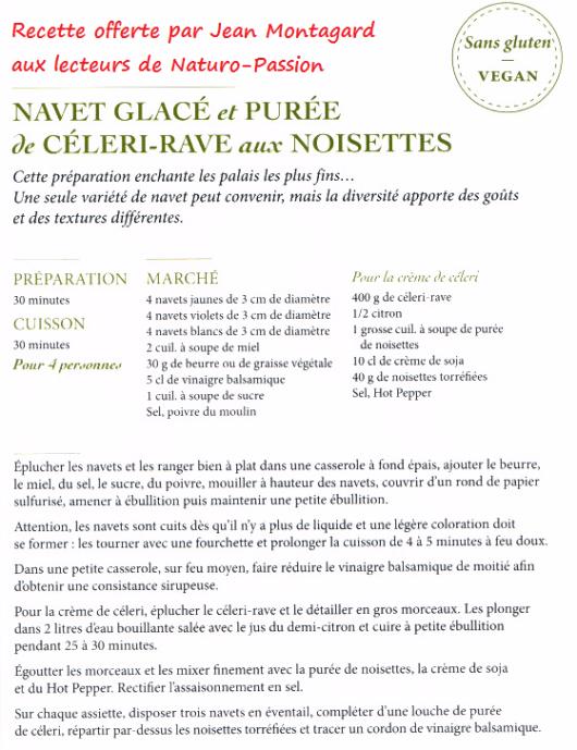 Navet glacé et purée de céleri rave aux noisettes-Naturo-Passion