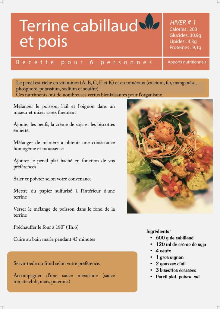 recette healthy terrine pois cabillaud