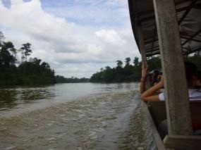 Bootsfahrt auf Sungai Tembeling