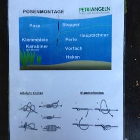 Posenmontage und Knoten