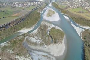 Alpenrhein - Aufweitung an Frutzmündunge