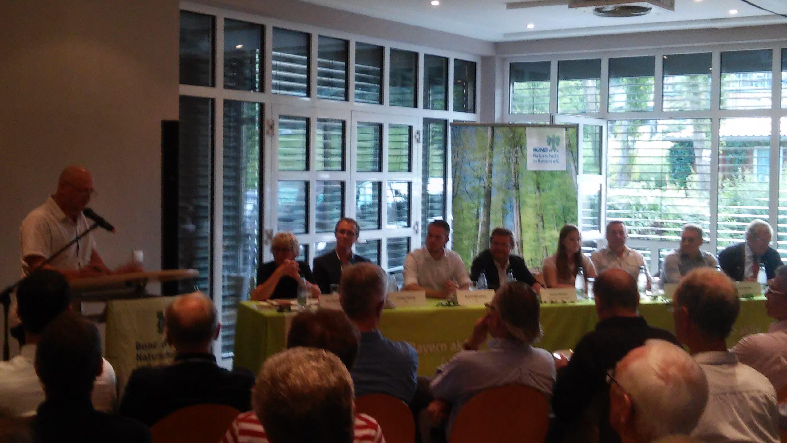 Diskussionsrunde Nationalpark Steigerwald
