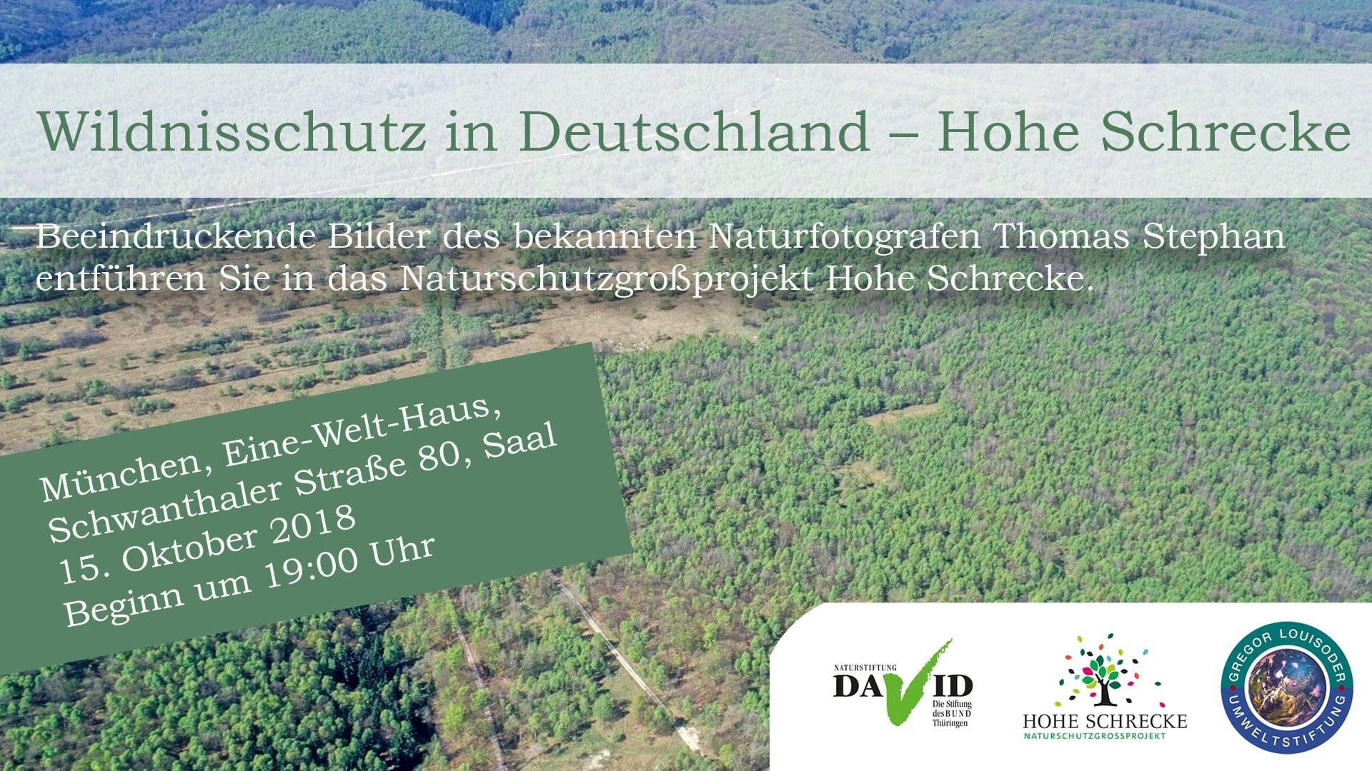 Multivisionsabend – Naturschutzprojekt Hohe Schrecke 15.10.