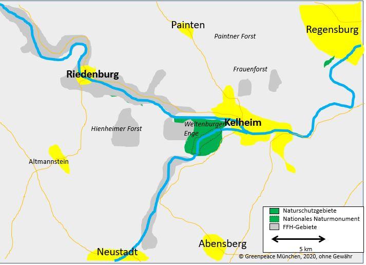 Holzeinschlag in NSG in Weltenburger Enge
