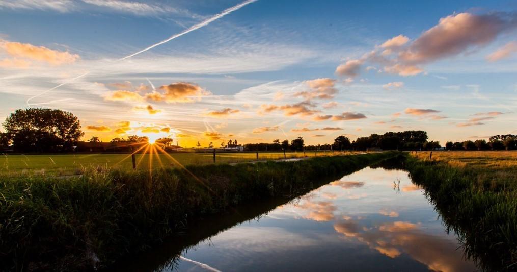 De Bonnenpolder, agrarisch landschap, nu nog in al zijn schoonheid