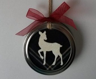 Kerstboomhanger Mason Jar met afbeelding Ree