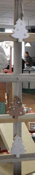 Kerstboomhanger van Steigerhout in 3 kleuren