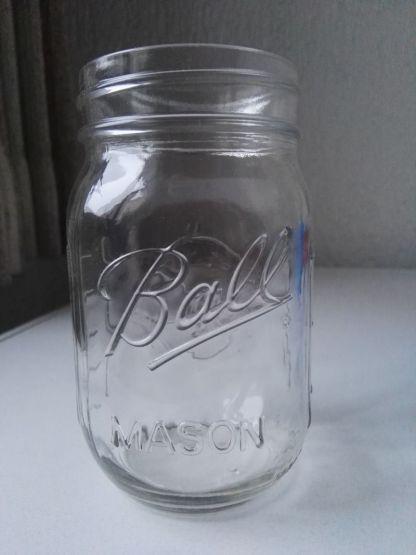 Snoepautomaat van Steigerhout met Mason Jar van Ball
