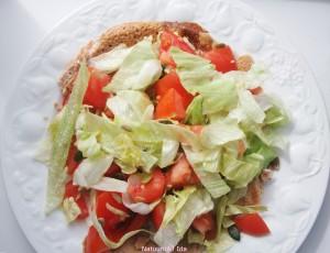 quinoa pannenkoek met salade