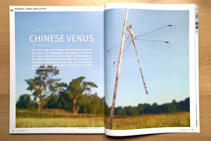 Artikel over het LAOWA groothoekobjectief in Natuurfoto Magazine.