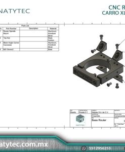 Soporte Router CNC ROUTER 71mm