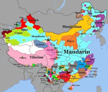 Карта с китайските диалекти, НаучиКитайски