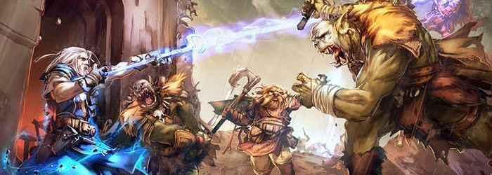 Batalla contra orcos.