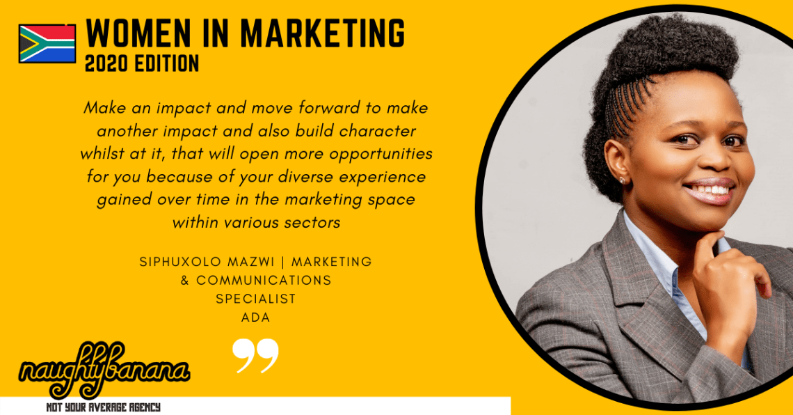 Siphuxolo Mazwi, LinkedIn, Women In Marketing (Yellow)