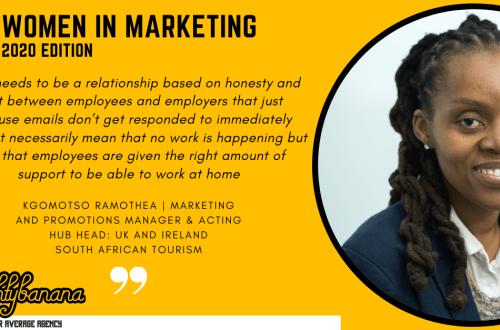 Kgomotso Ramothea, LinkedIn, Women In Marketing (Yellow)