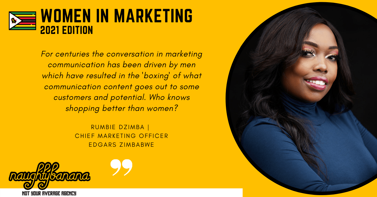 Rumbie Dzimba, LinkedIn, Women In Marketing (Yellow)