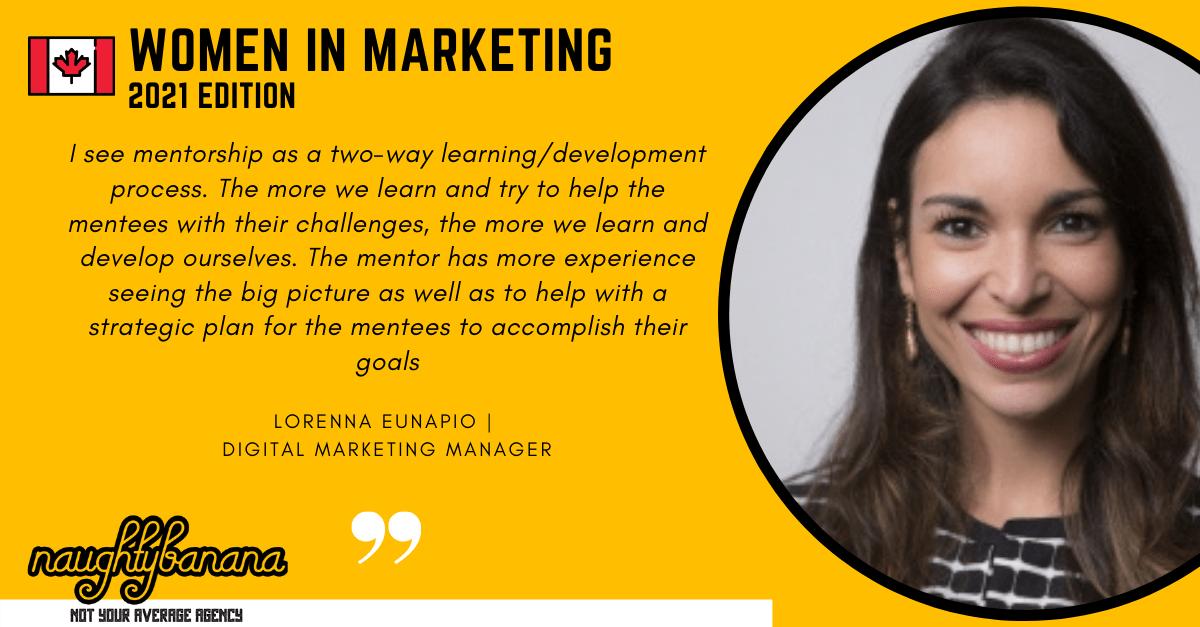 Lorenna Eunapio, LinkedIn, Women In Marketing (Yellow) (1)